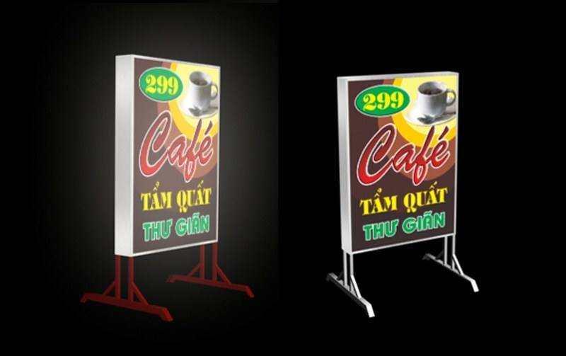 Biển hộp đèn, biển mica hộp đèn, biển quảng cáo