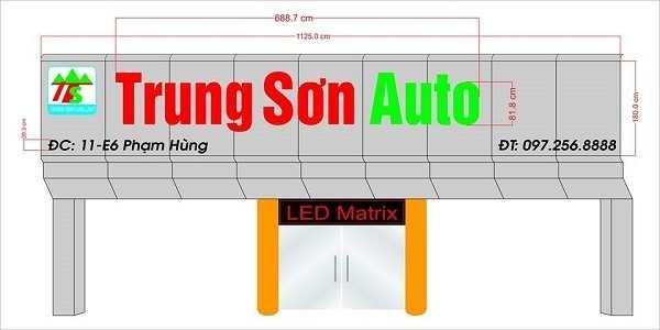 Biển quảng cáo showroom ôtô Trung Sơn