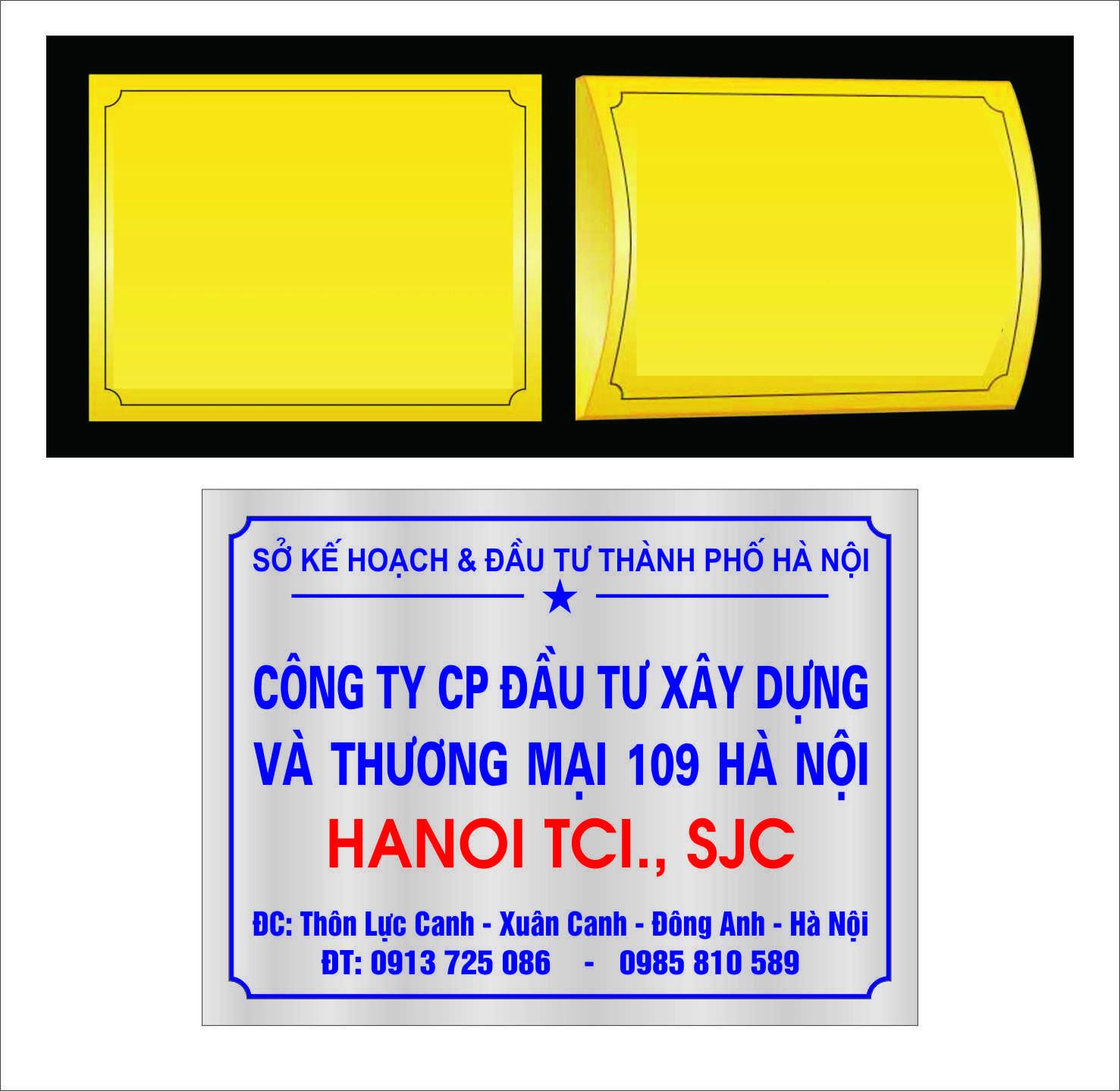 Làm Biển Đồng, Inox, Biển Mica giá rẻ tại Hà Nội